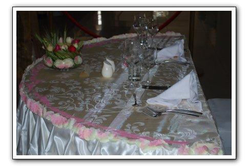 table maries decoration Espace Les Colonnades Salle de