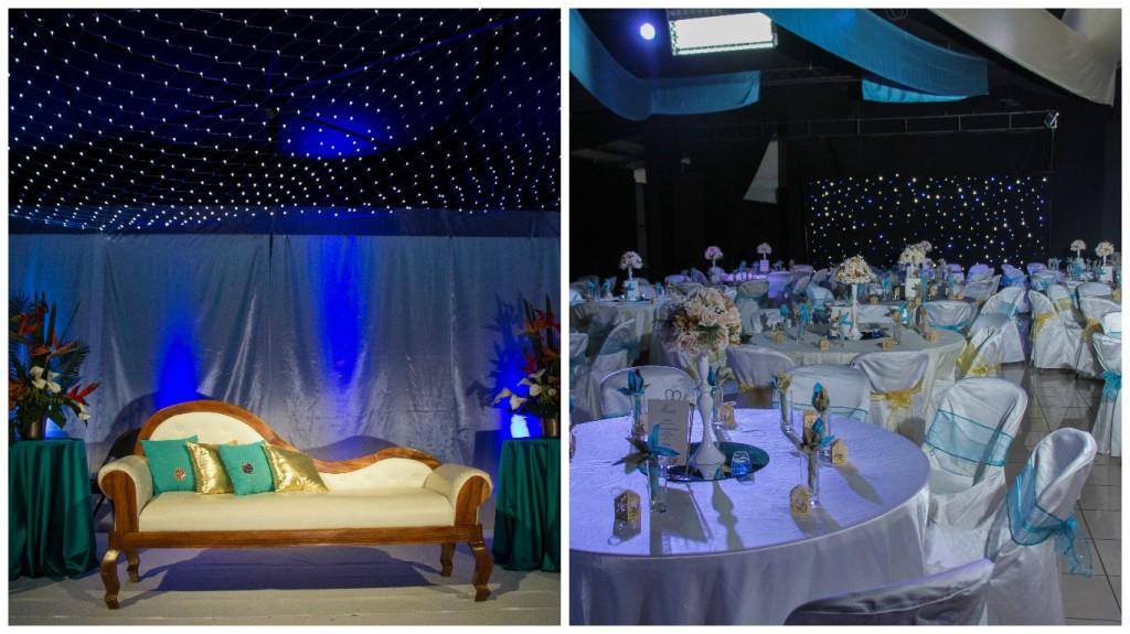 10. Mariage Oriental M&M- le Doré couleur par excellence et décliné par petite touche de Turquoise pour rehausser la décoration ( 29 Décembre 2015)