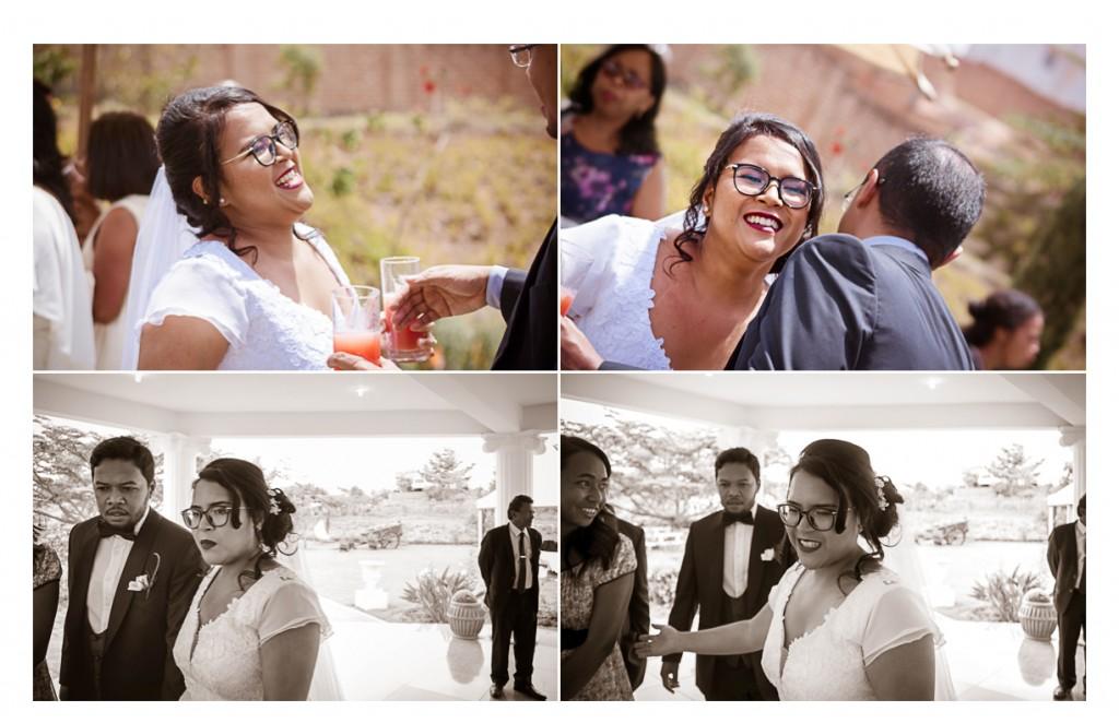 Mariage-arrivée-mariés-Zo&Gabriella-salle-réception-colonnades