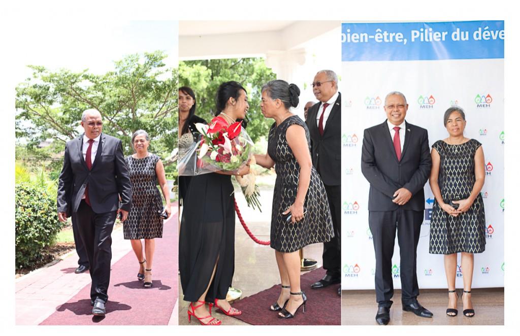 voeux de nouvel an MEH Ministère énergie Madagascar ministre arrivée