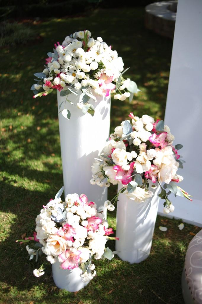 déco fleur jardin colonnades