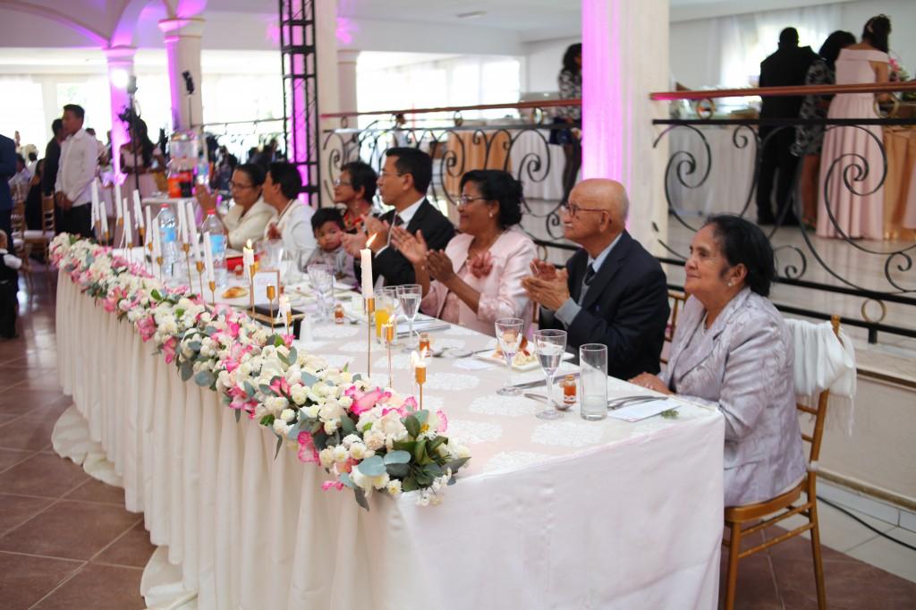 table d'honneur mariage colonnades