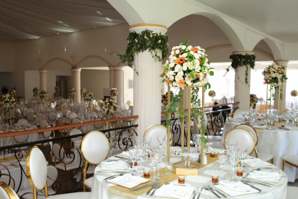 décoration salle de récéption mariage Colonnades Mamitiana & Tatiana (9)